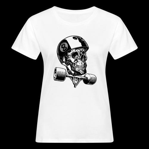Skull Longboard Rider - positive print - T-shirt bio Femme