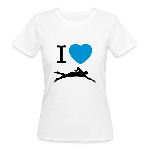 I LOVE SWIMMING - T-shirt ecologica da donna