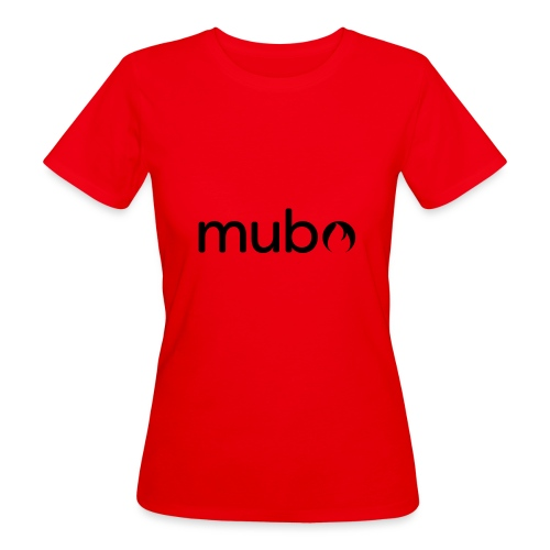 mubo Logo Word Black - Women's Organic T-Shirt
