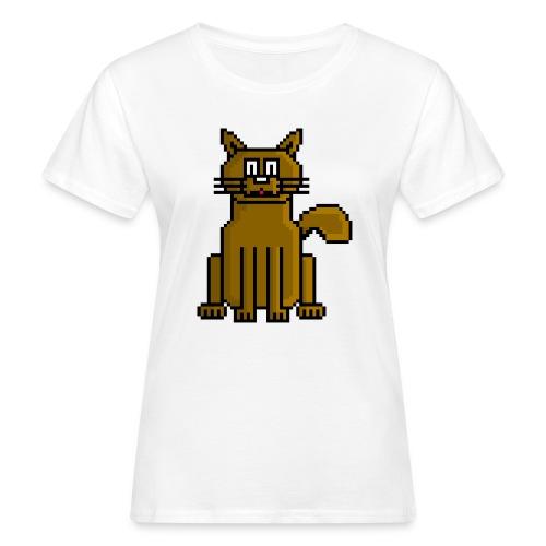 GatoPixelArt - Camiseta ecológica mujer
