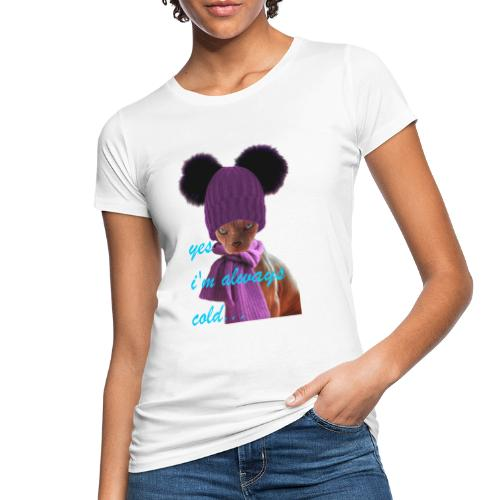 Sphinx cat in hat and scarf - Ekologisk T-shirt dam
