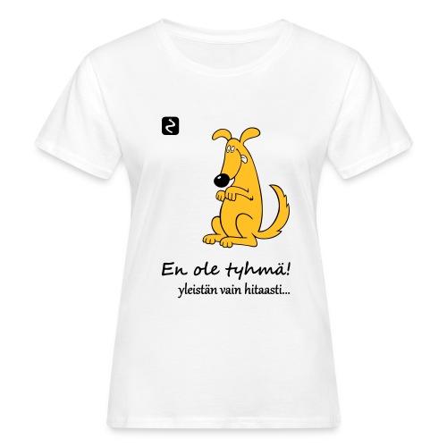 istuva koira s - Naisten luonnonmukainen t-paita