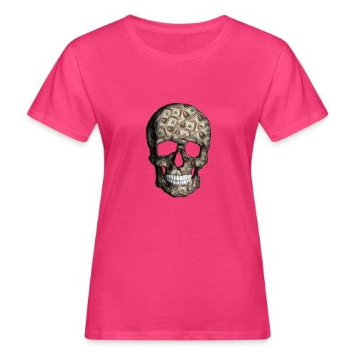 Skull Money Black - Camiseta ecológica mujer