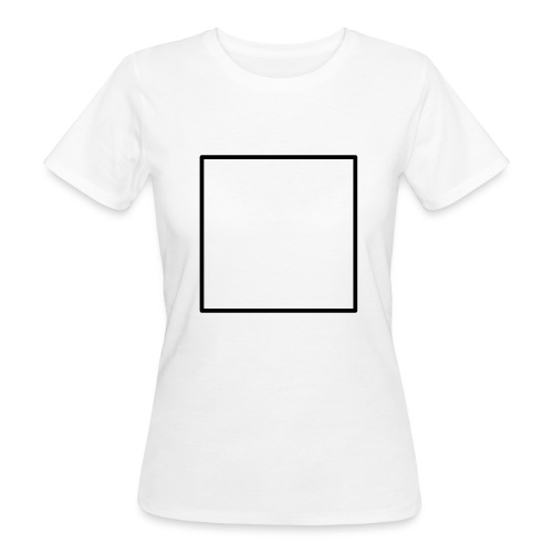 Square t shirt black - Vrouwen Bio-T-shirt