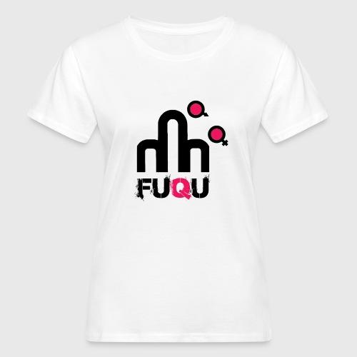T-shirt FUQU logo colore nero - T-shirt ecologica da donna