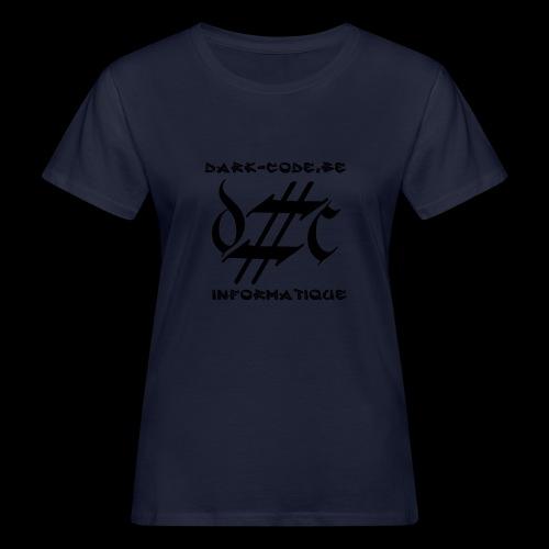 Dark-Code Black Gothic Logo - T-shirt bio Femme