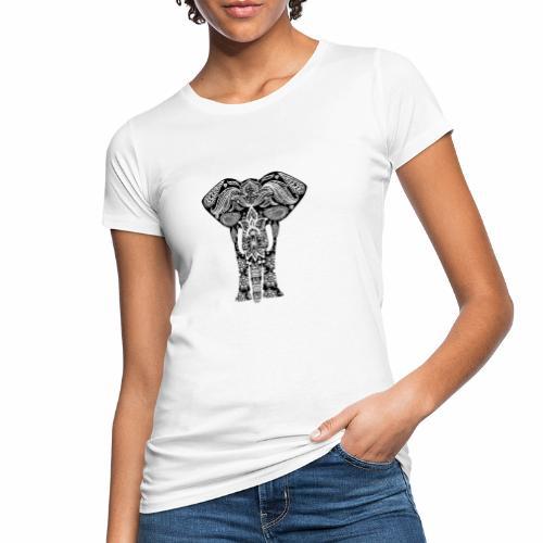 Ażurowy słoń - Ekologiczna koszulka damska