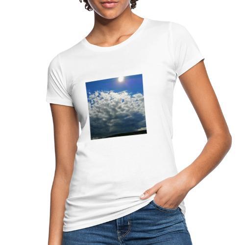 kurz blickt die Sonne über Gewitter-Himmel - Frauen Bio-T-Shirt