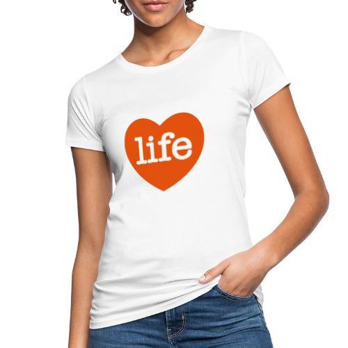 LOVE LIFE heart - Women's Organic T-Shirt