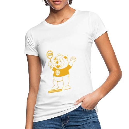 FUPO der Bär. Druckfarbe Orange - Frauen Bio-T-Shirt