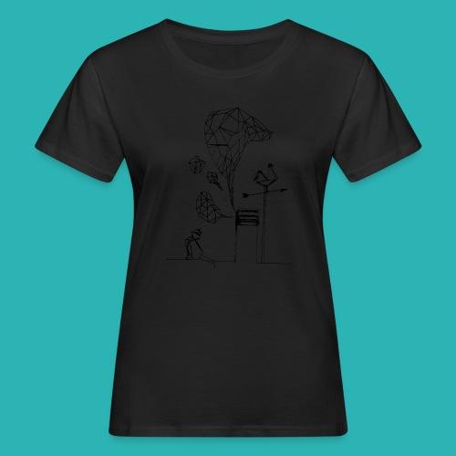 Carta_gatta-png - T-shirt ecologica da donna