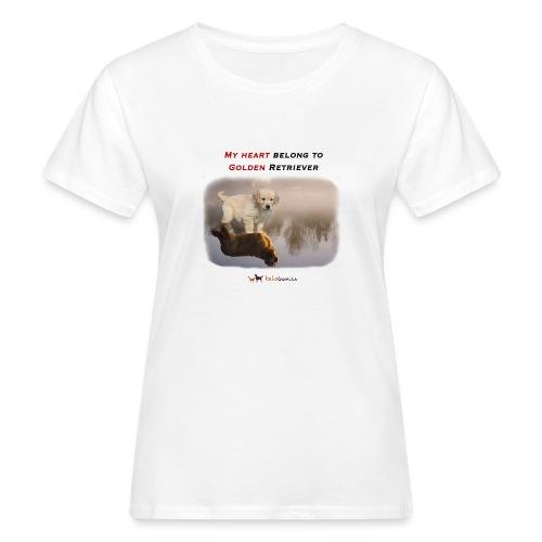 Golden Retriever Big and Small - T-shirt ecologica da donna