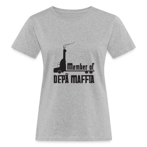 Depå Maffia svart tryck - Ekologisk T-shirt dam