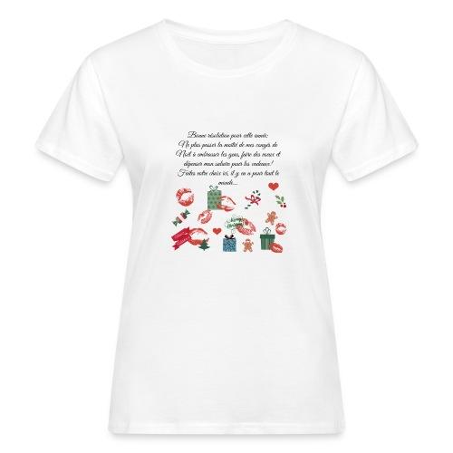 Bonne resolution Noël Nouvel An - T-shirt bio Femme