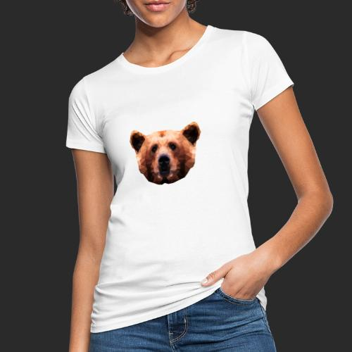 Low-Poly Bear - Frauen Bio-T-Shirt