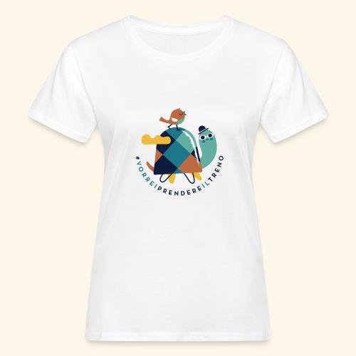 Tartaruga e uccellino - T-shirt ecologica da donna