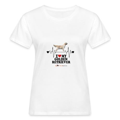 I love Golden Retriever - T-shirt ecologica da donna