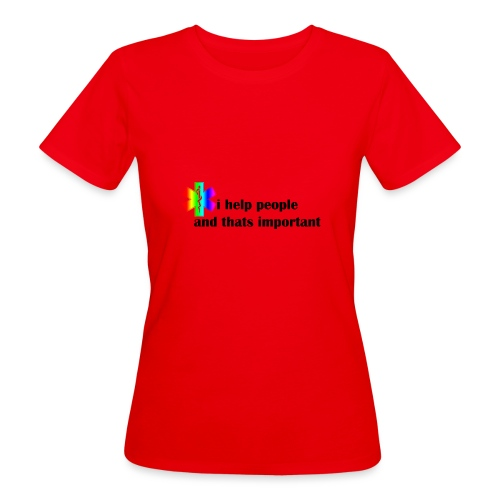 i help people - Vrouwen Bio-T-shirt