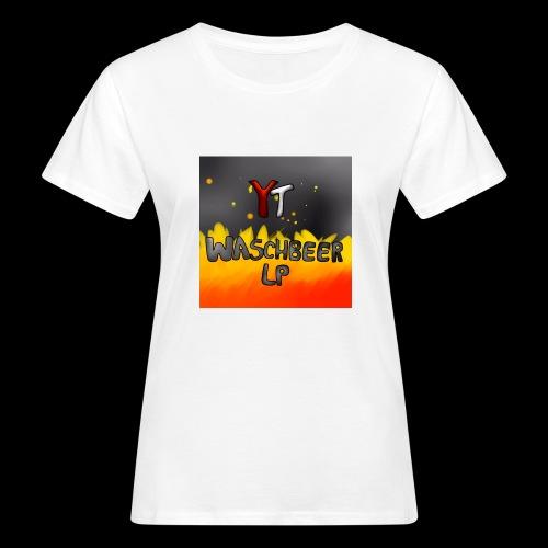 Waschbeer Design 2# Mit Flammen - Frauen Bio-T-Shirt