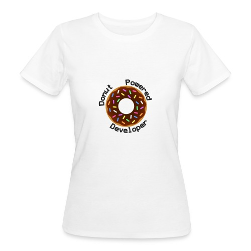 Donut Powered Developer - Camiseta ecológica mujer