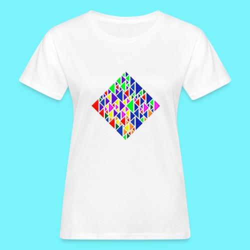 A square school of triangular coloured fish - Women's Organic T-Shirt
