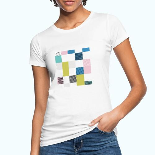 Abstract art squares - Women's Organic T-Shirt