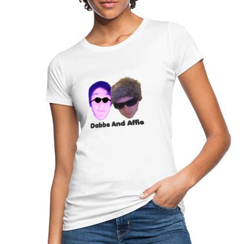Dabbe And Affie Svart Text - Ekologisk T-shirt dam