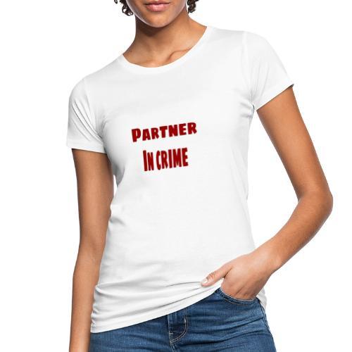 Partner in crime red - Ekologisk T-shirt dam