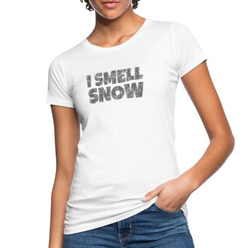 I Smell Snow (Dunkelgrau) Schnee, Wintersport, Ski - Frauen Bio-T-Shirt
