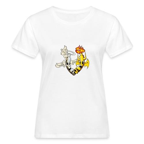 engel_teufel_color_ohne_s - Frauen Bio-T-Shirt
