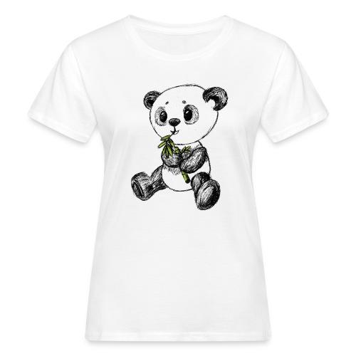 Panda Karhu värillinen scribblesirii - Naisten luonnonmukainen t-paita