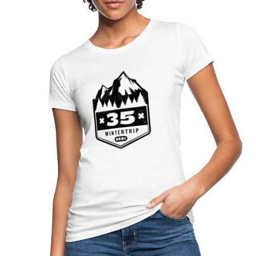 35 ✕ WINTERTRIP ✕ 2021 • BLACK - Vrouwen Bio-T-shirt