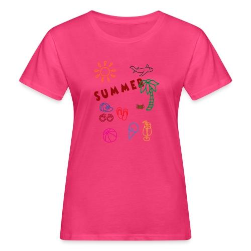 Summer - Naisten luonnonmukainen t-paita
