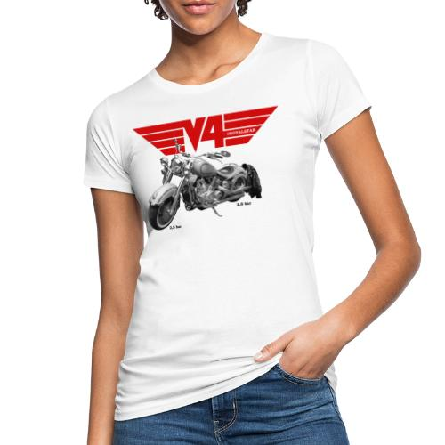 V4 Motorcycles red Wings - Frauen Bio-T-Shirt