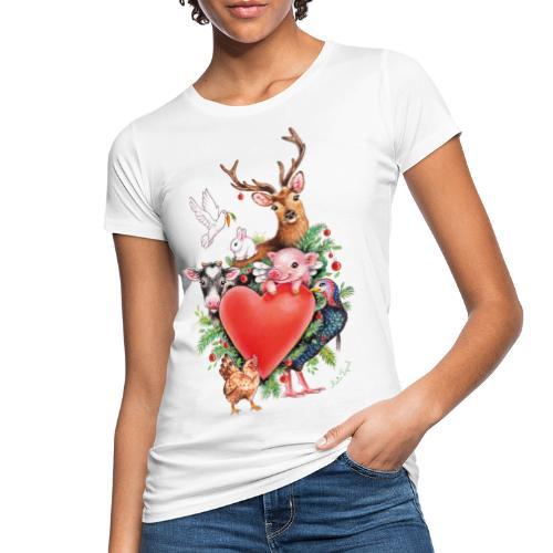 Christmas heart by Maria Tiqwah - Women's Organic T-Shirt