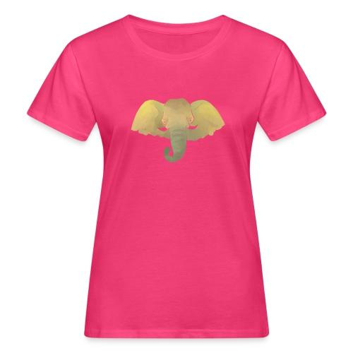 Elefant - Elefantenkopf - Frauen Bio-T-Shirt