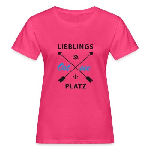 Lieblingsplatz Ostsee - Frauen Bio-T-Shirt