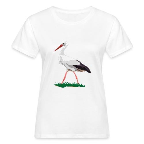 Weißstorch - Frauen Bio-T-Shirt