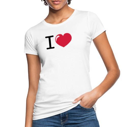 i love heart - Vrouwen Bio-T-shirt