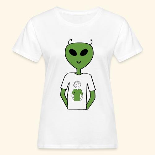 Alien human T shirt - Ekologisk T-shirt dam