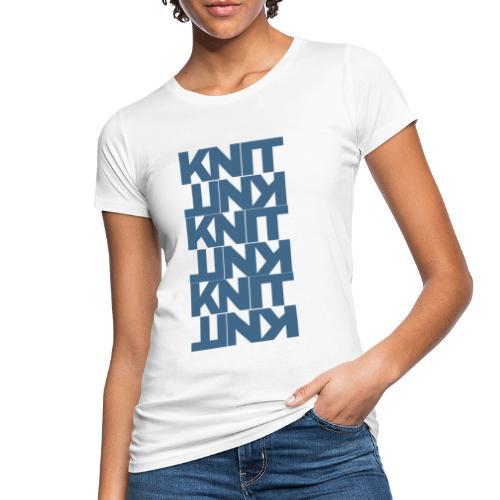 Garter Stitch, dark - Women's Organic T-Shirt