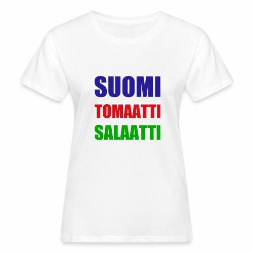 SUOMI SALAATTI tomater - Økologisk T-skjorte for kvinner