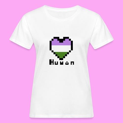 Pride heart genderqueer - Naisten luonnonmukainen t-paita
