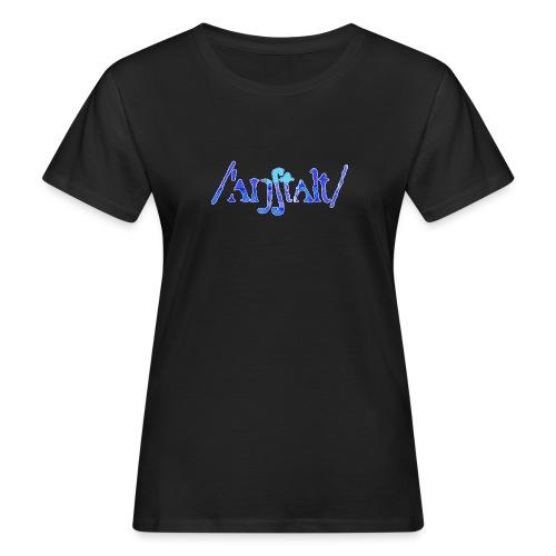 /'angstalt/ logo gerastert (blau/weiss) - Frauen Bio-T-Shirt