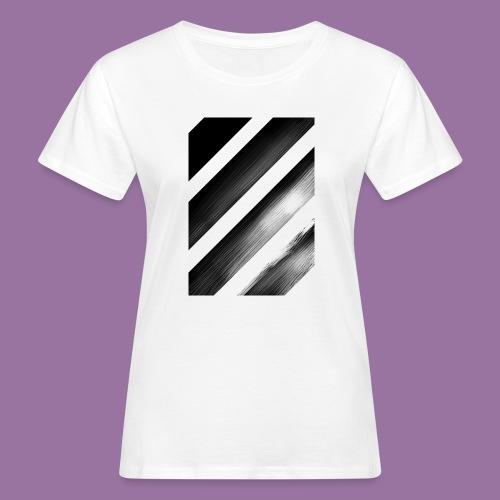 Stripes Diagonal Black - T-shirt ecologica da donna