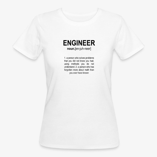 Engineer Def. 2 Black - T-shirt bio Femme