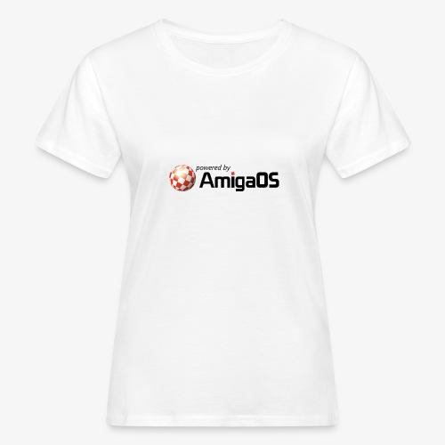 PoweredByAmigaOS Black - Women's Organic T-Shirt