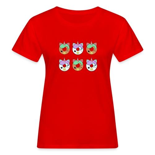 Unicorn Donut - T-shirt ecologica da donna