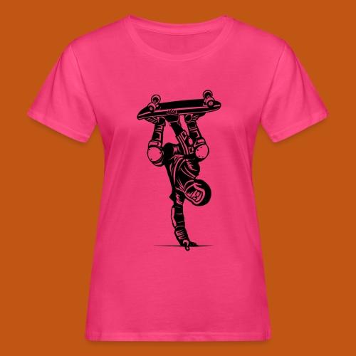 Skater / Skateboarder 02_schwarz - Frauen Bio-T-Shirt