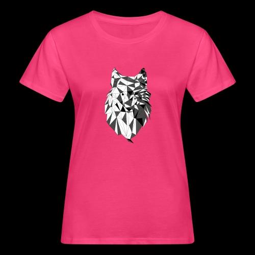 Polygoon wolf - Vrouwen Bio-T-shirt
